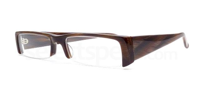 Brown Wood 804 Glasses, Booth & Bruce Design
