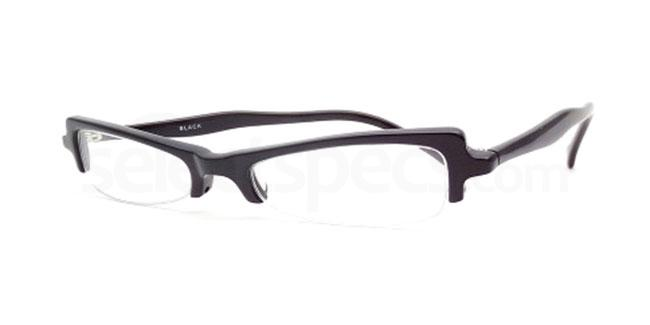 Black 810 Glasses, Booth & Bruce Design