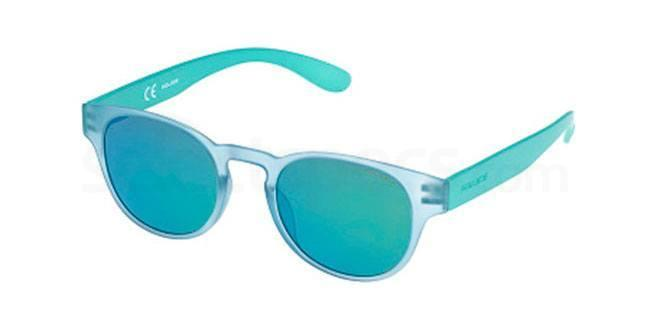 light blue police sunglasses