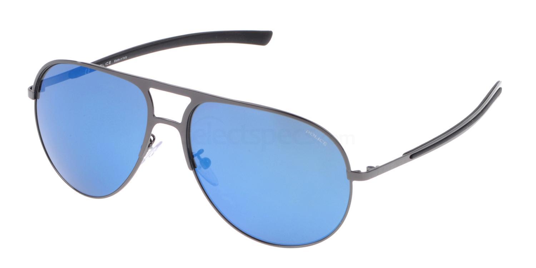 568B SPL148 Mirror Sunglasses, Police
