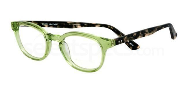 Olive Leather 910 Glasses, Booth & Bruce Classic
