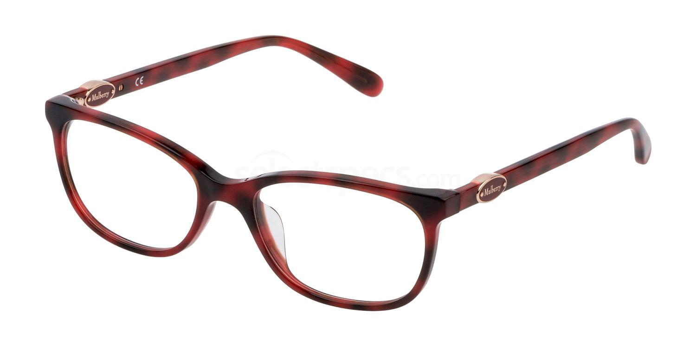 09AT VML063 Glasses, Mulberry