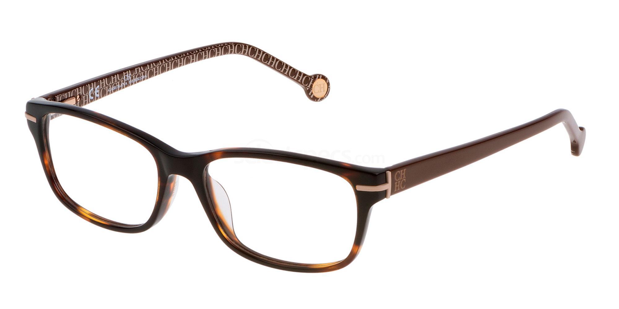 0743 VHE634 Glasses, CH Carolina Herrera