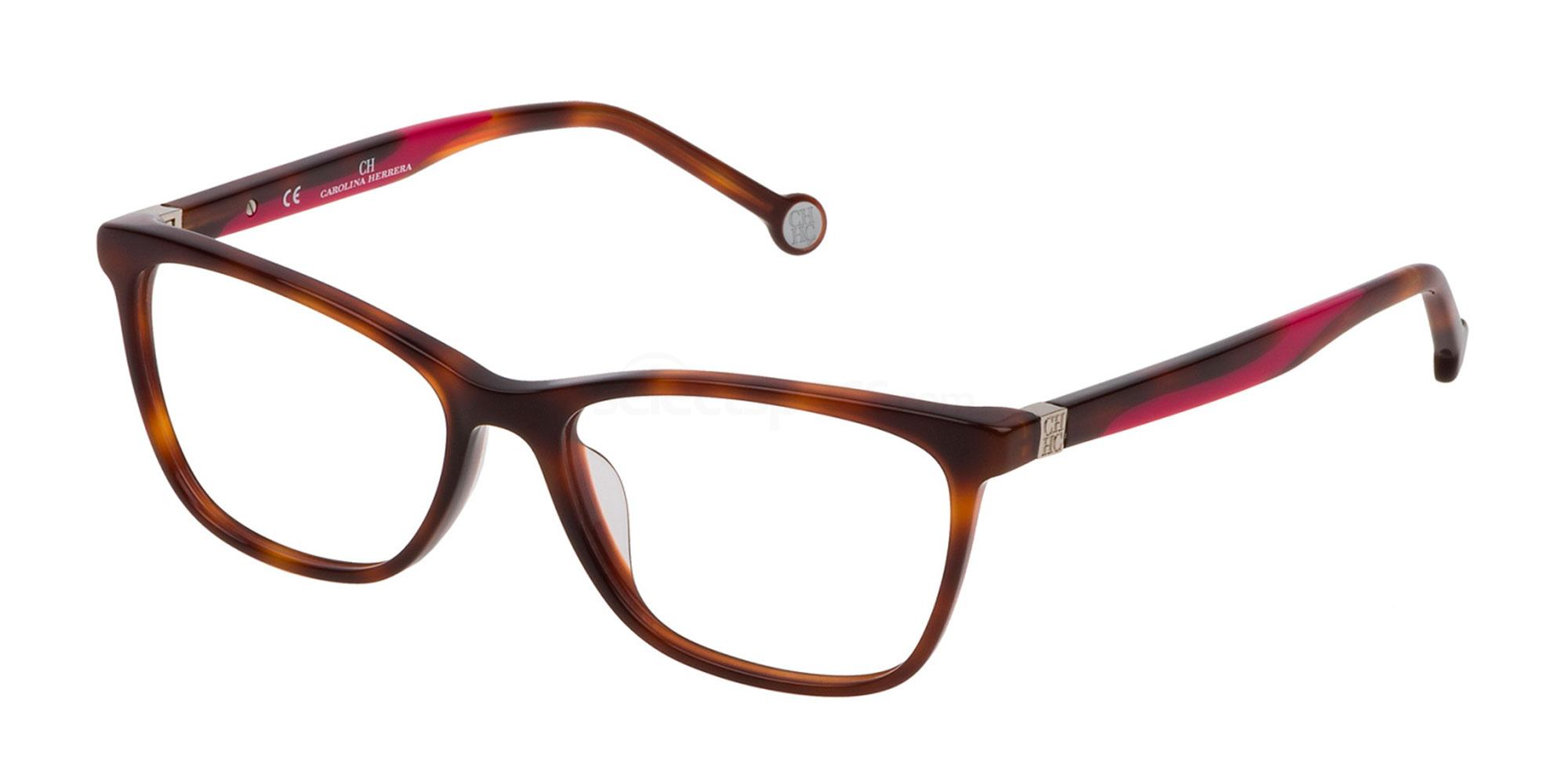 0752 VHE771 Glasses, CH Carolina Herrera