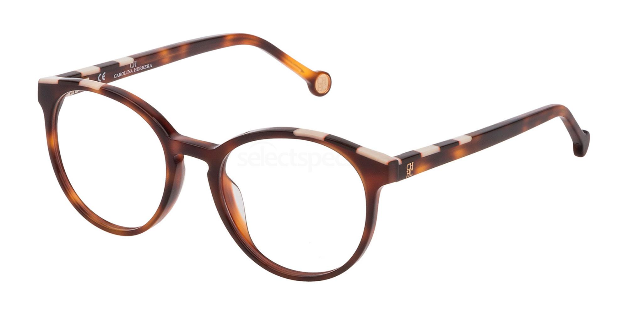 0752 VHE802 Glasses, CH Carolina Herrera