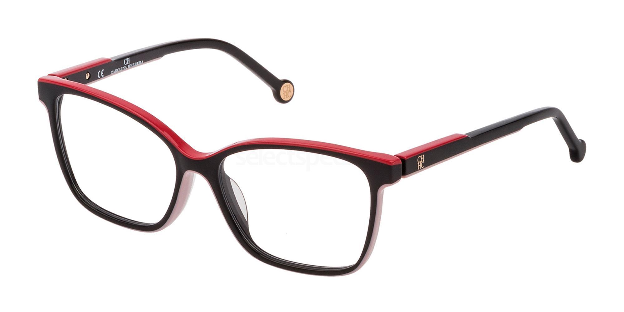 09P2 VHE801 Glasses, CH Carolina Herrera