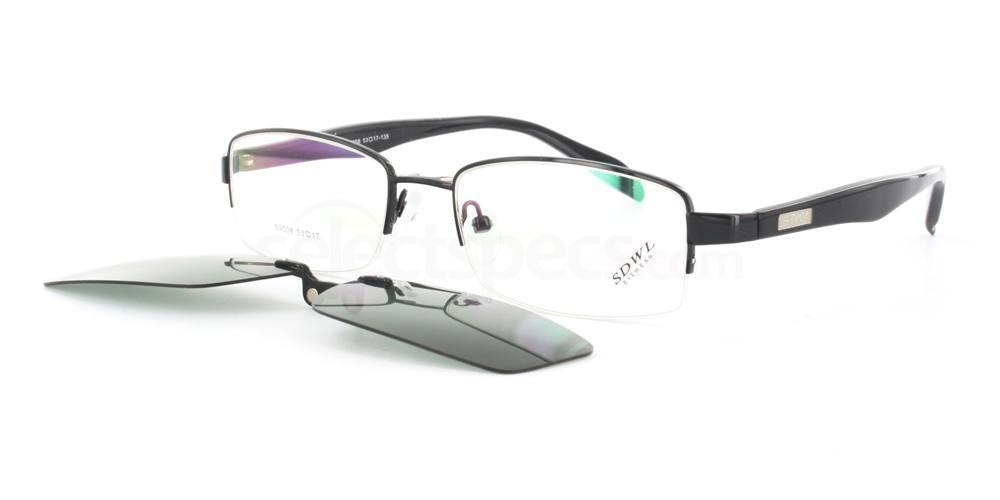 Black S9008 With Magnetic Sunglasses Clip-on Glasses, SelectSpecs