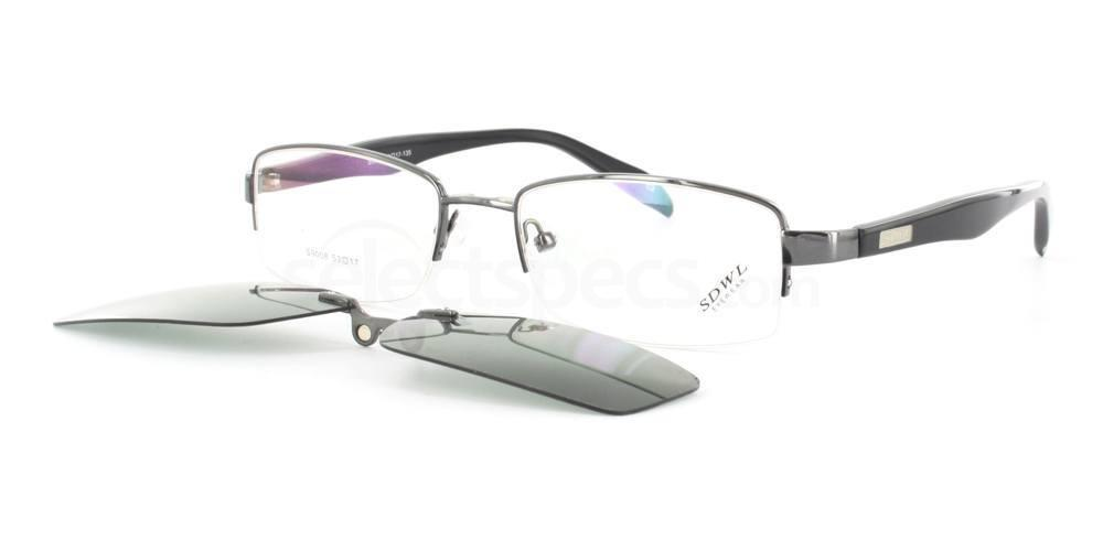 Gunmetal S9008 With Magnetic Sunglasses Clip-on Glasses, The SS Collection