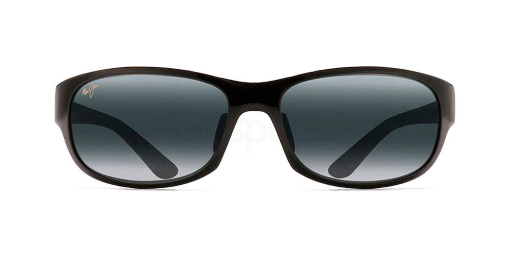 Black swap-around sunglasses man style