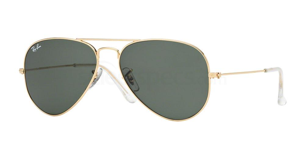 Ray-Ban-Gold-and-Green-Aviator-Sunglasses