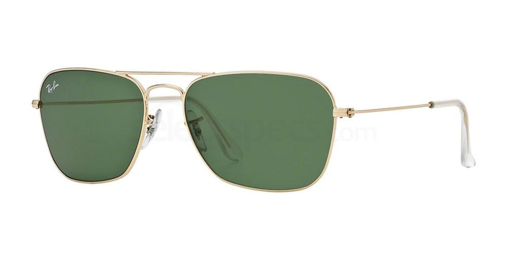 Ray Ban RB3136 Caravan Aviator sunglasses