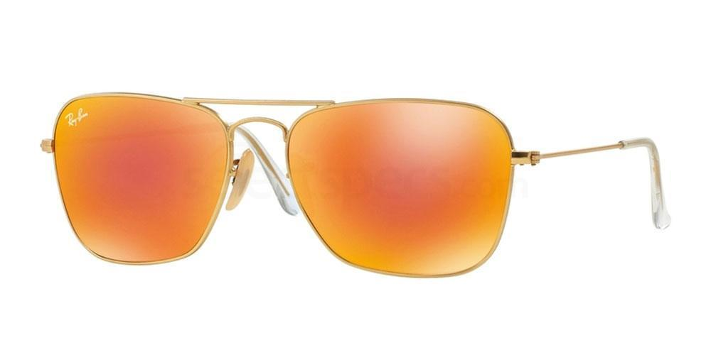 mirror ray ban caravan aviators