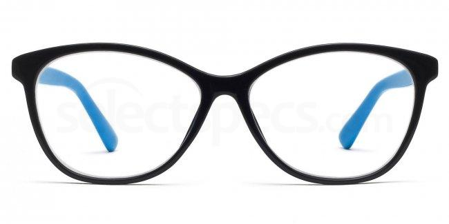 4a75dbd4bd4 Savannah 2439 - Black and Blue glasses. Free lenses   delivery ...