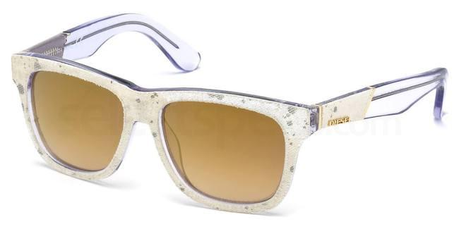 Diesel Designer Sunglasses White at SelectSpecs
