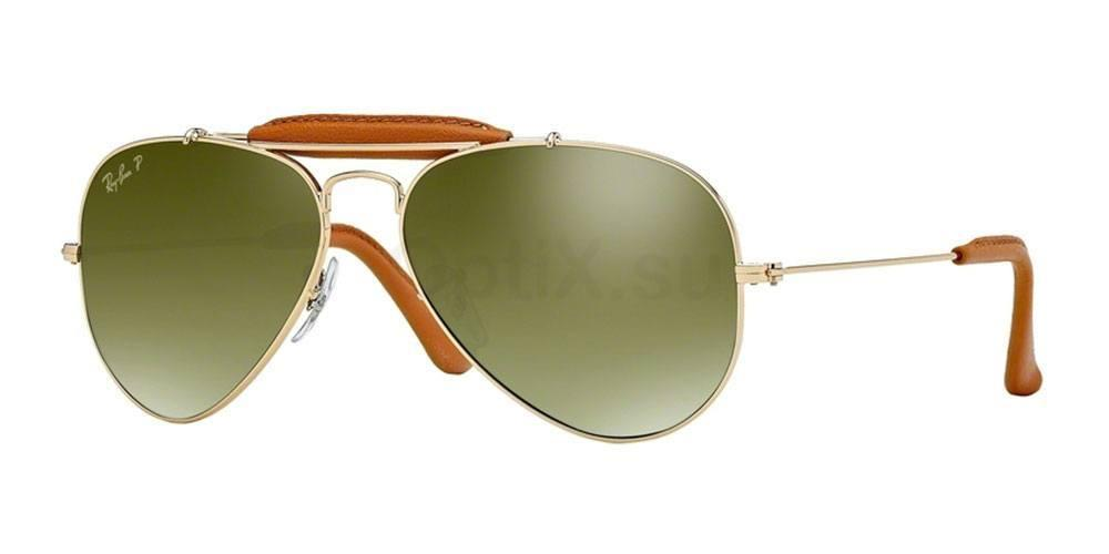 001/M9 RB3422Q Outdoorsman (Standard) Sunglasses, Ray-Ban