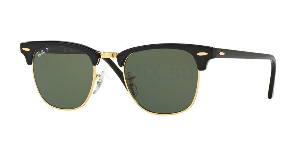 901/58 RB3016 - Clubmaster (HRG) (Polarized) Sunglasses, Ray-Ban