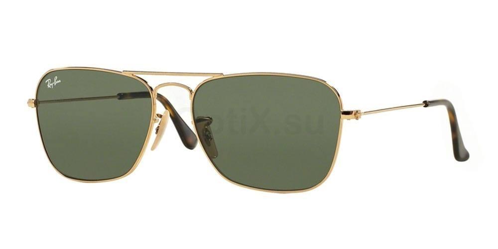 181 RB3136 Aviator - Caravan - Flash Lenses Sunglasses, Ray-Ban