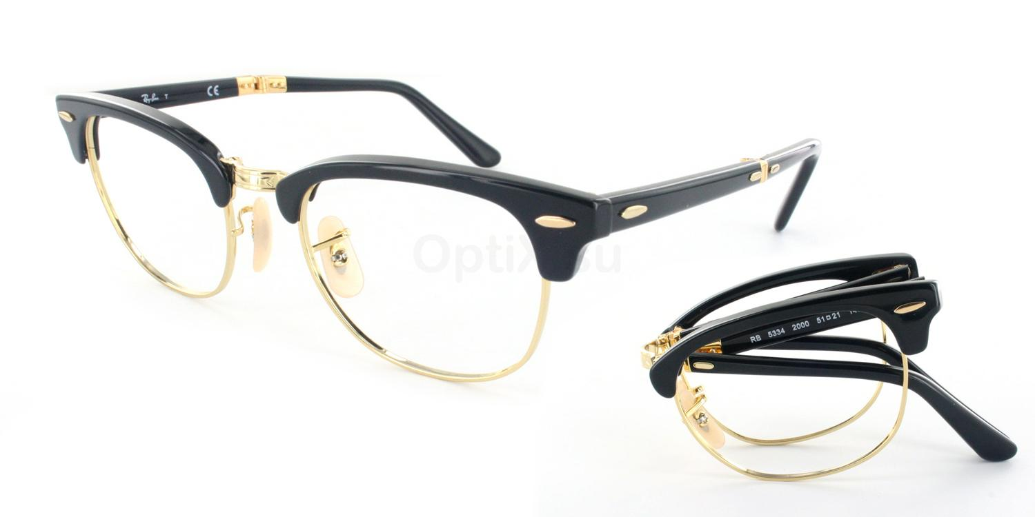 2000 RX5334 - Clubmaster Folding Glasses, Ray-Ban