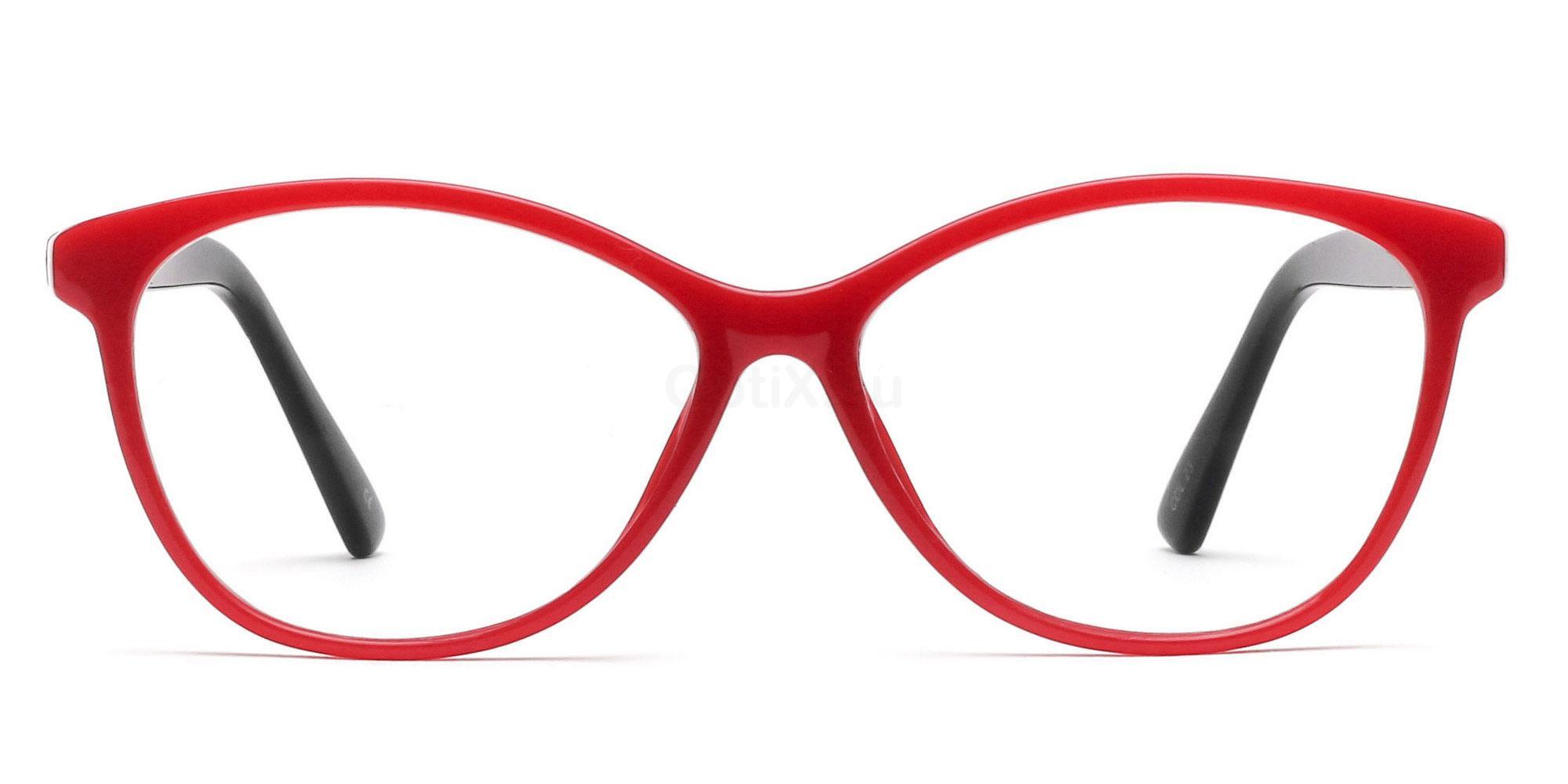 COL.23 2439 - Red and Black Glasses, Savannah