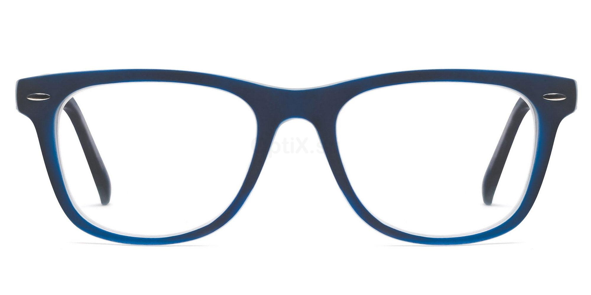 C14 8121 - Navy on Transparent Glasses, SelectSpecs