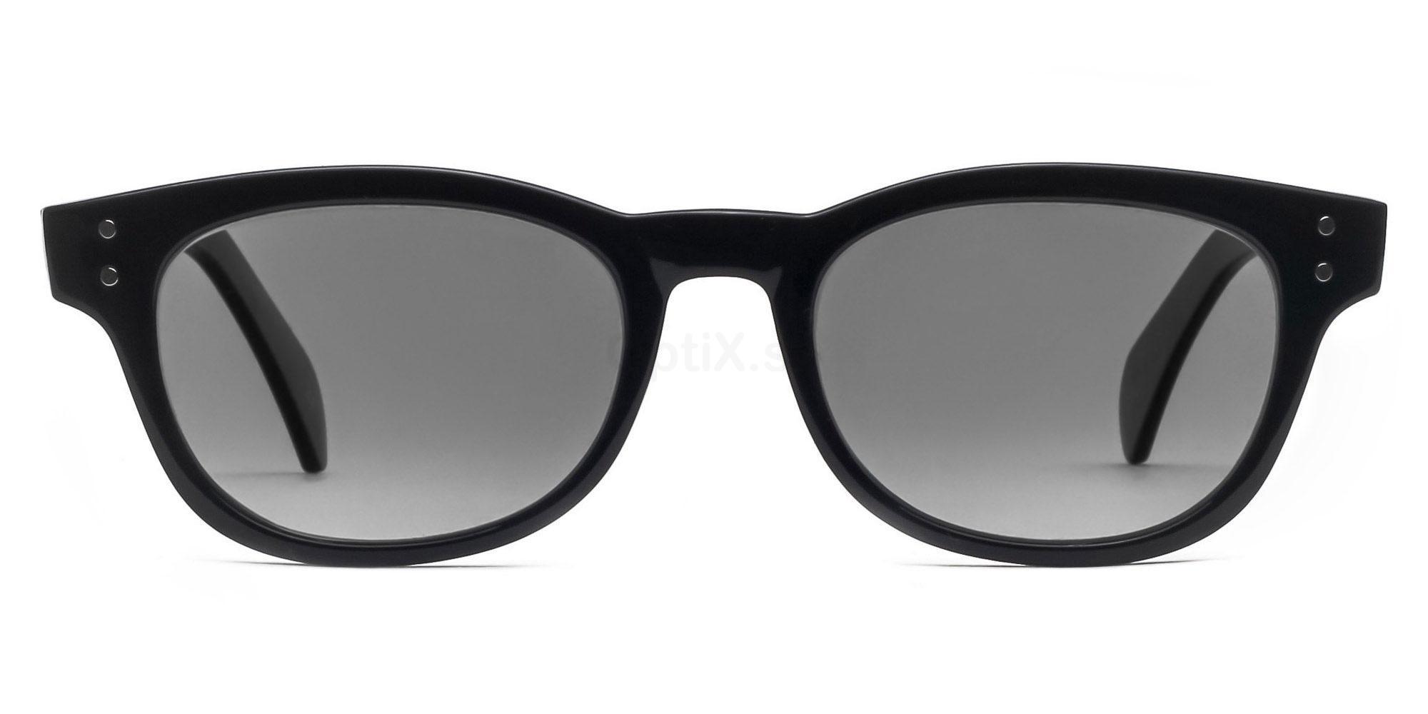 C01 Polarized Grey P2249 Shiny Black (Polarized) Sunglasses, Savannah