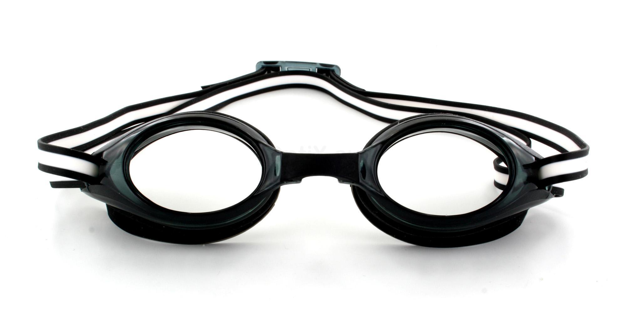 Black Prescription Swimming Goggles Glasses, Aero