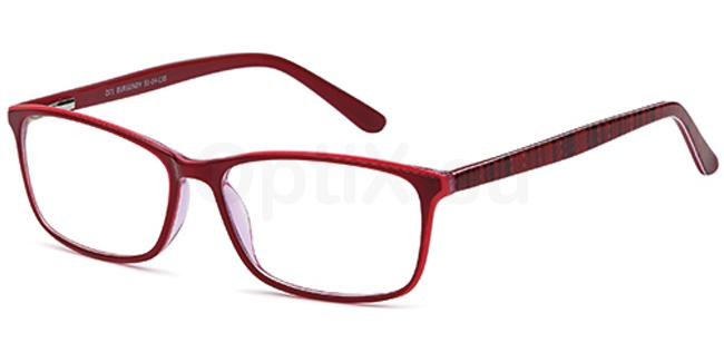 Burgundy D71 Glasses, Brooklyn