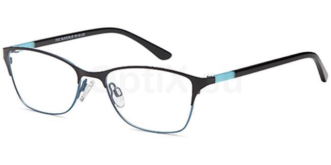 Black/Blue D82 Glasses, Brooklyn