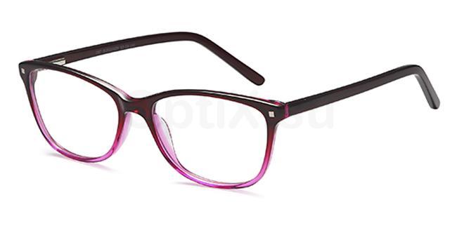 Burgundy D87 Glasses, Brooklyn