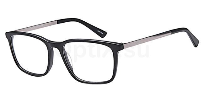 Black D117 Glasses, Brooklyn