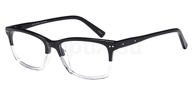 Black D128 Glasses, Brooklyn