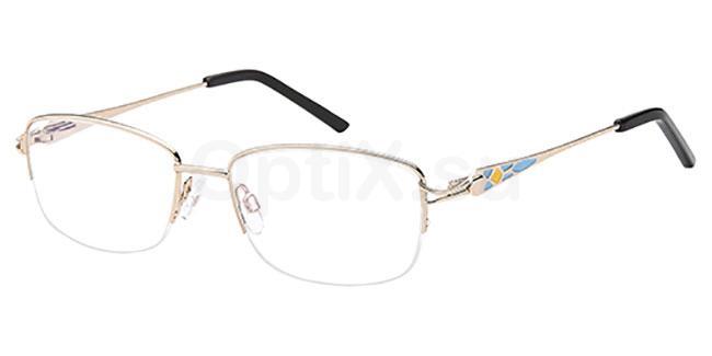 Gold D134 Glasses, Brooklyn