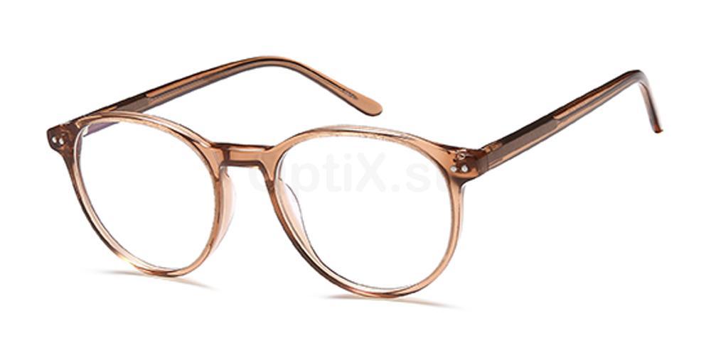Brown Crystal D141 Glasses, Brooklyn