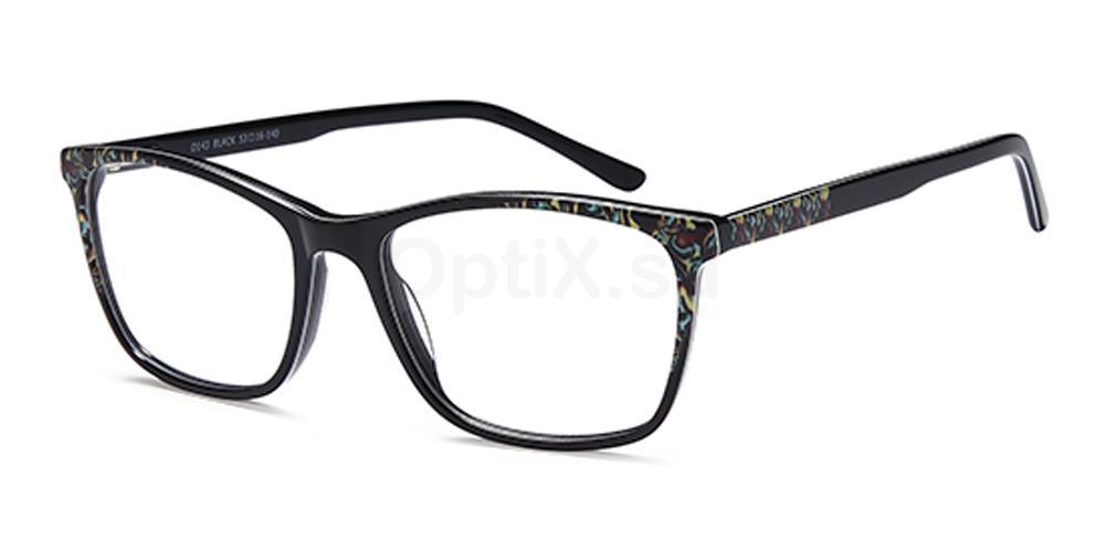 Black D143 Glasses, Brooklyn