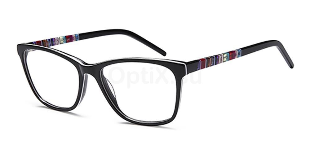 Black D149 Glasses, Brooklyn