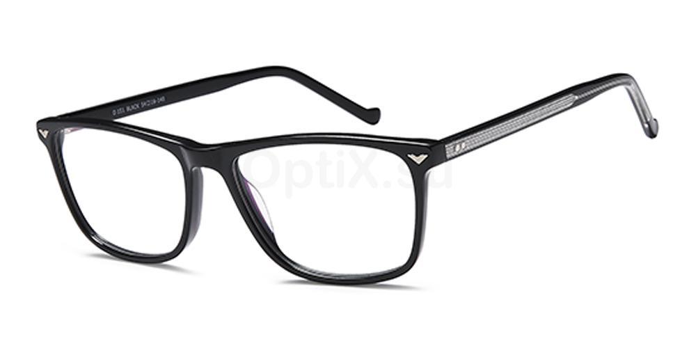 Black D151 Glasses, Brooklyn