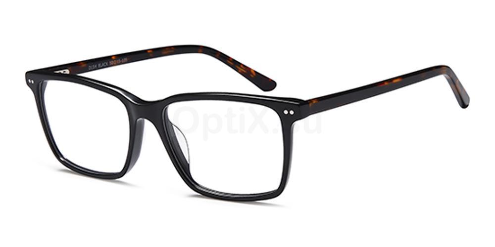 Black D154 Glasses, Brooklyn