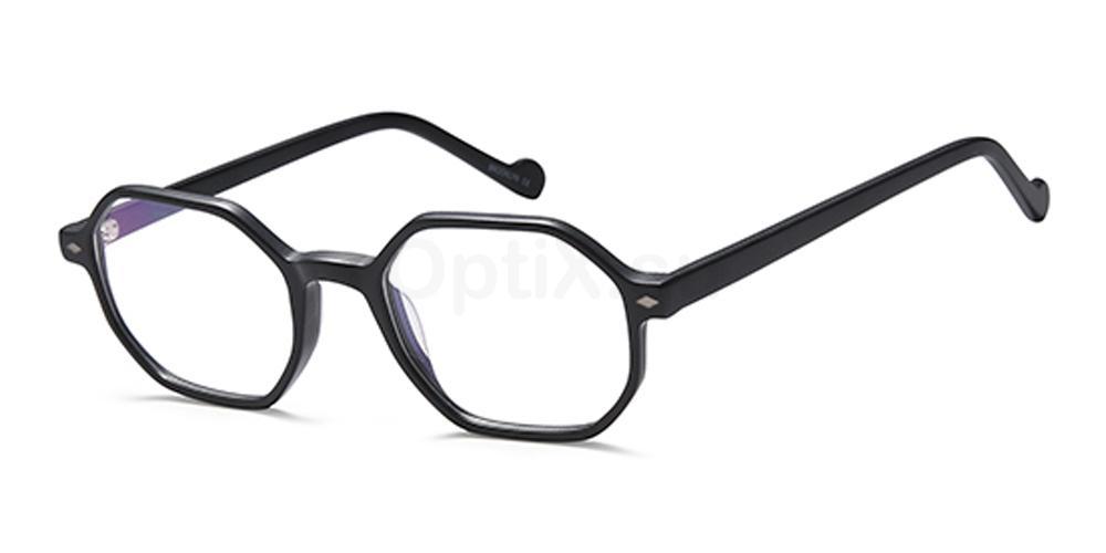 Black D155 Glasses, Brooklyn