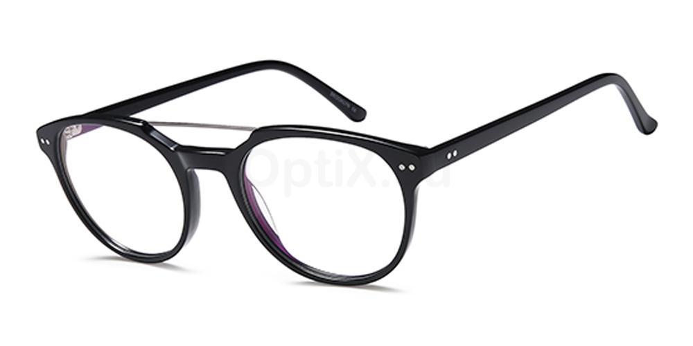 Black D156 Glasses, Brooklyn
