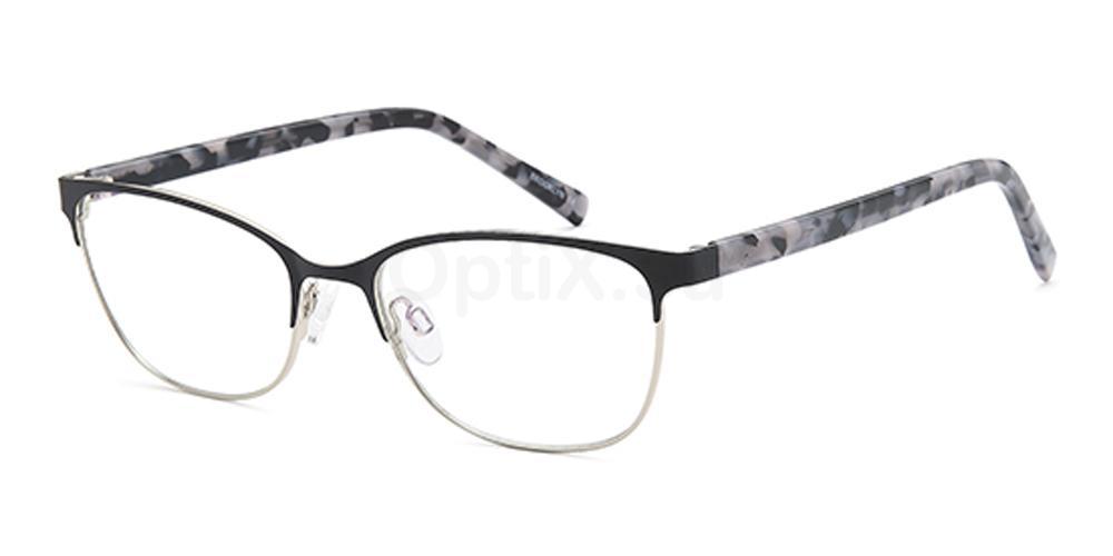 Black/Silver D161 Glasses, Brooklyn