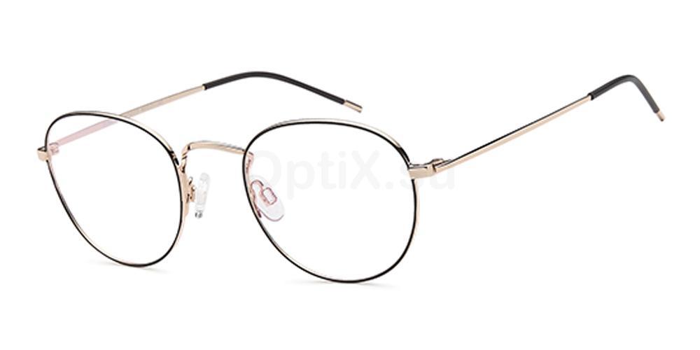 Black/Gold D164 Glasses, Brooklyn
