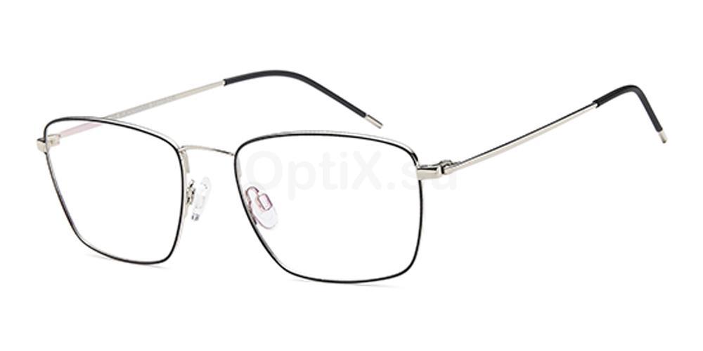Black/Silver D165 Glasses, Brooklyn