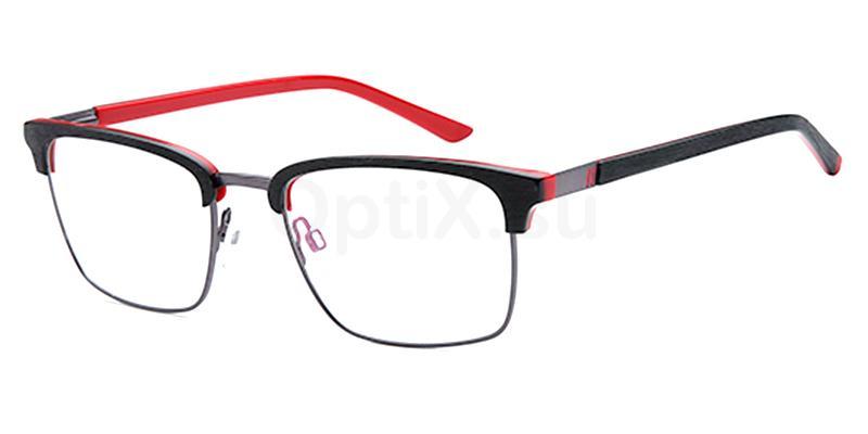 Black/Red D168 Glasses, Brooklyn