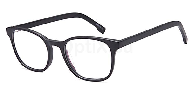 Black D171 Glasses, Brooklyn