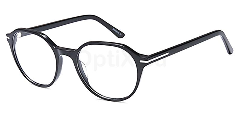 Black D175 Glasses, Brooklyn