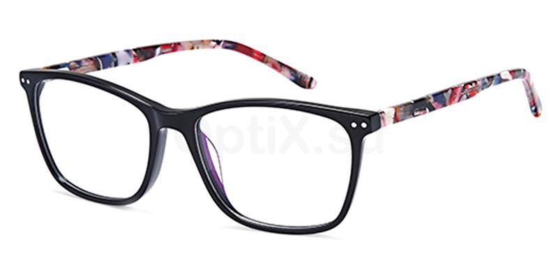Black D180 Glasses, Brooklyn