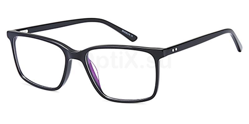 Black D181 Glasses, Brooklyn