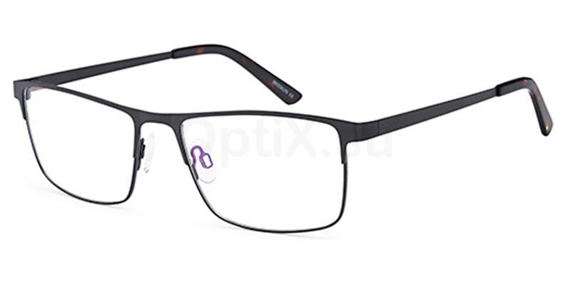 Black D187 Glasses, Brooklyn