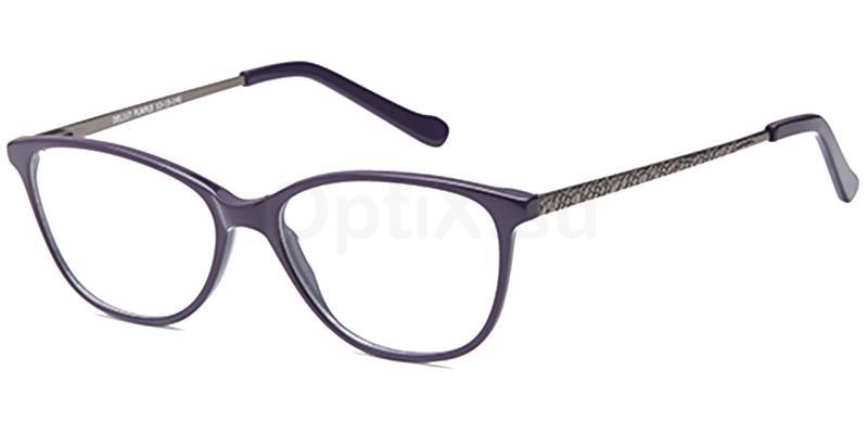 Purple DEL117 Glasses, Delancy