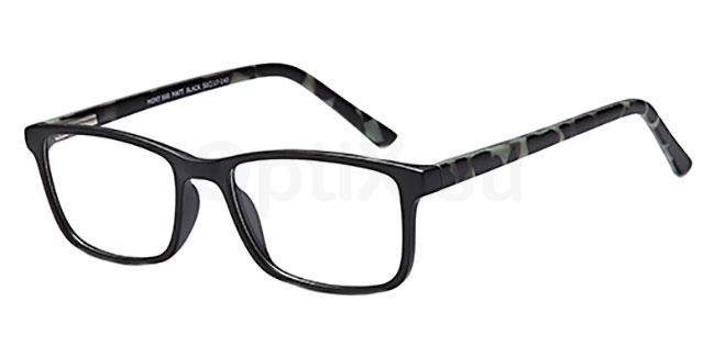 Matt Black MONT860 Glasses, MONTEREY TEENS